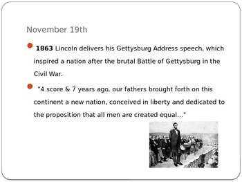 Today in History Bell Ringer - November