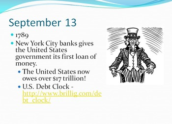 Today in History Bell Ringer - September