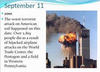 Today in History Bell Ringer - September through May