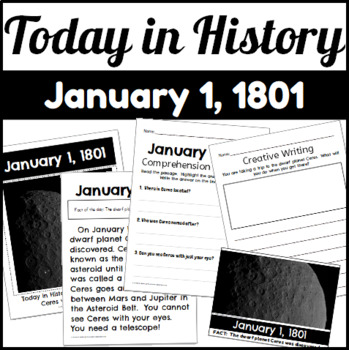Today in History: January 1, 1801 Discovery of Ceres