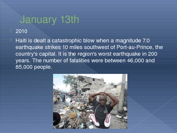 Today in History Bell Ringer - January