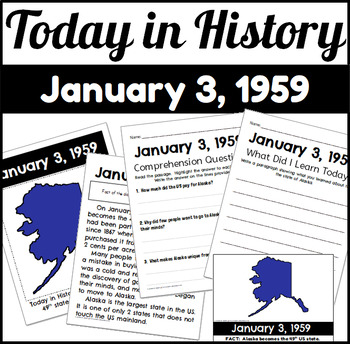 Today in History: January 3, 1959 Alaska Becomes A State