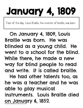 Today in History: January 4, 1809 Louis Braille Born