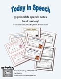 Today in Speech: 35 Printable Speech Notes