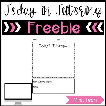 Today in Tutoring Freebie