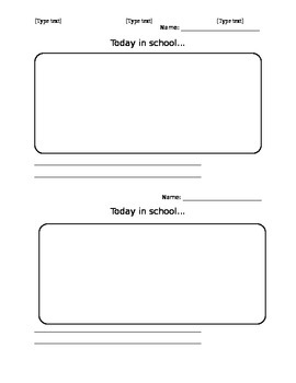"""""""Today in school"""" parent communication sheet"""