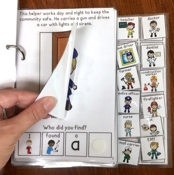 Today is Career Day:  A Community Helpers Interactive & Adaptive Book