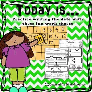 Today is.... Date writing practice sheet - FREE SAMPLE