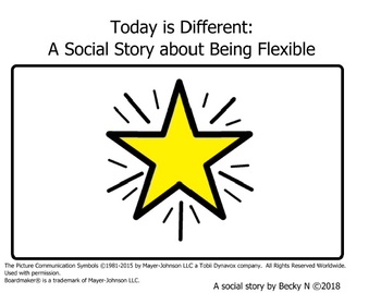 Today is Different: A Social Story about Being Flexible