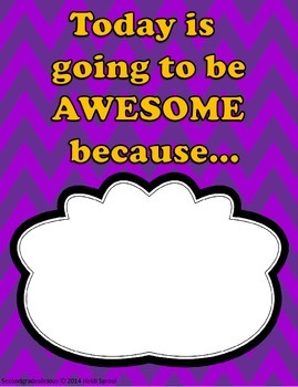 Today is Going to Be Awesome Because....  (Poster)