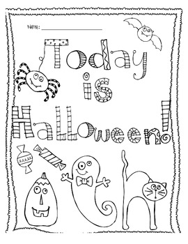 Today is Halloween Coloring Page