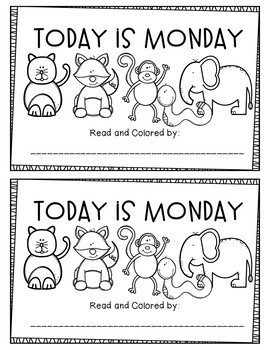 Today is Monday Emergent Reader