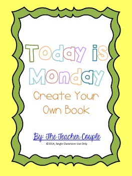 Today is Monday Lesson - Create Your Own Book