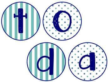 Today is & Months of the Year!- Teal & Navy