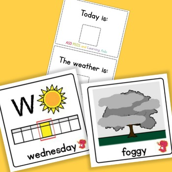 Today is / The Weather is - Boardmaker Visual Aids for Autism SPED