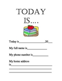 Today is...Daily Warm-Up Activity