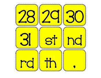 Today's Date Calendar Cards