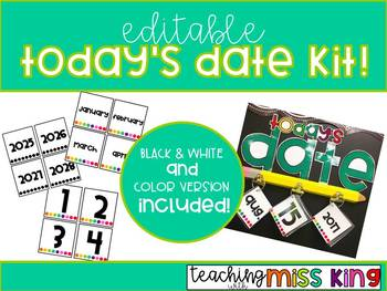 Today's Date Kit - EDITABLE