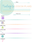 Today's Lesson Plans Printable