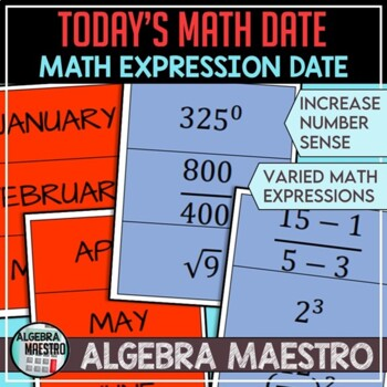 Today's Math Date (Increase Number Sense)