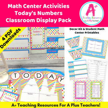 Today's Number Activities {Classroom Bulletin Board}