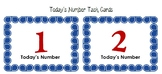 Today's Number Cards - 1.NBT.A.1, 1.NBT.B.2