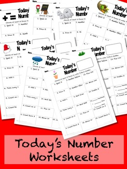 Today's Number Math Sheet