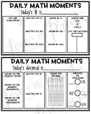 Today's Number and Today's Decimal Daily Math Warm Up