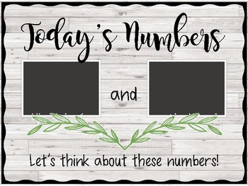 Today's Numbers