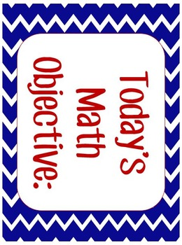 Today's Objective Nautical Theme Signs Editable