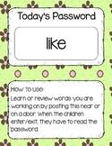Today's Password