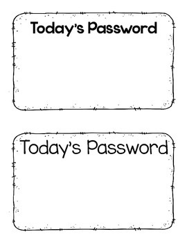 Today's Password