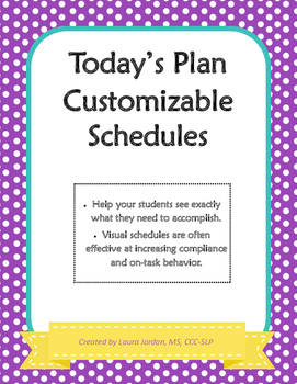 Today's Plan Customizable Schedules