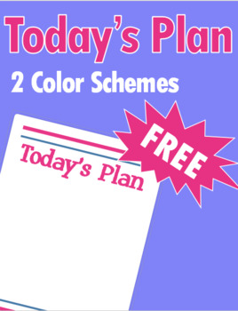Today's Plan Sheet