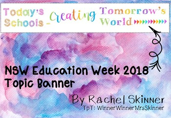 Today's Schools Creating Tomorrow's World - NSW Education Week 2018 Banner FREE