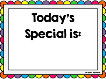 Today's Special Is Bulletin Board