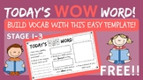 Today's WOW word - Vocabulary Builder Worksheet