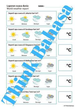 Today's Weather Activity Bahasa Indonesia Class | Cuaca Hari Ini