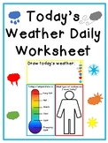 Today's Weather Daily Worksheet