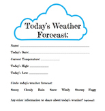 Today's Weather Forecast Print Out