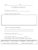 Today's Word Template