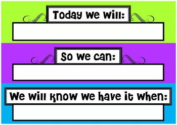 Today we will...