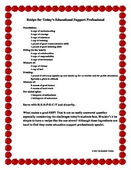Today's Educators' Characteristics as a Recipe!