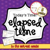 Elapsed Time Mini Math Warm Up Set