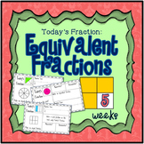 Equivalent Fractions Mini Math Warm Up Set