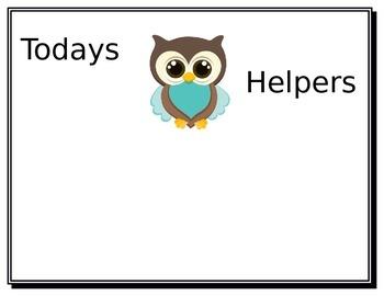 Todays Helpers: Owl Theme