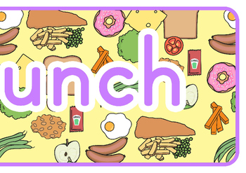 Todays Lunch Display Banner
