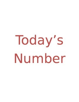Today's Number Is...
