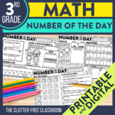 3rd GRADE NUMBER OF THE DAY | NUMBER SENSE | MATH MORNING WORK |  MATH HOMEWORK