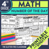 4th GRADE NUMBER OF THE DAY | NUMBER SENSE | MATH MORNING WORK |  EDITABLE